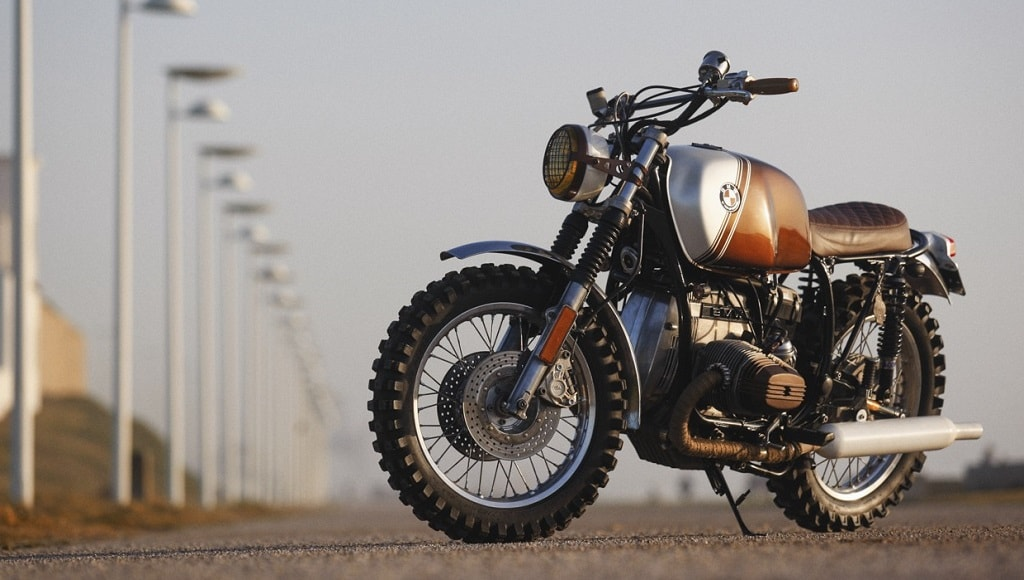 "Una BMW R45 convertida en ""Ton-up Pure"""